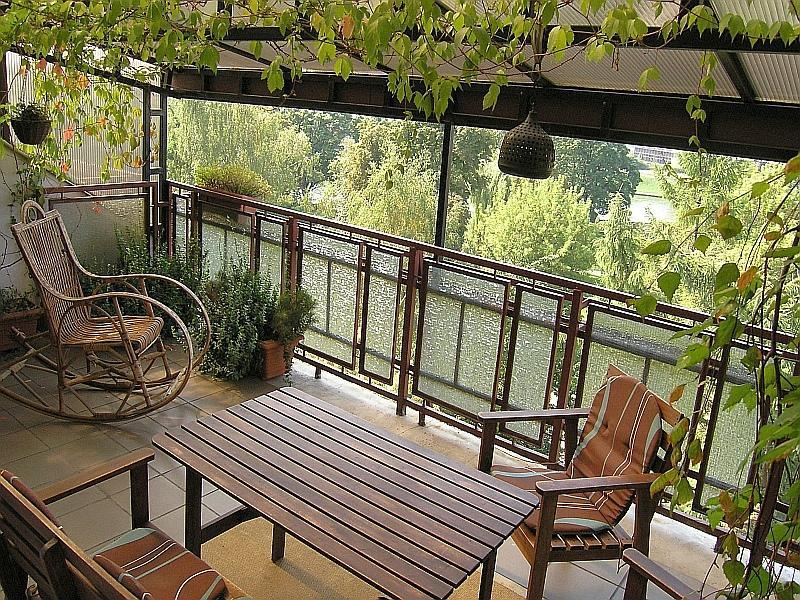 Green, spcious terrace overlooking Vistula river - Kazimierz Apartment, 2 bdr, great terrace with river view - Krakow - rentals