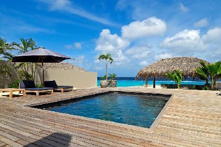 Karibuni - Modern villa with private suite on the 2nd level & ocean access right off the deck - Image 1 - Kralendijk - rentals