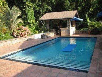 Spacious Pool and Sun deck: Cool off with a dip, swim laps, lounge in sun or shade - Luxury Living in a Historic Montserrat Villa! - Montserrat - rentals