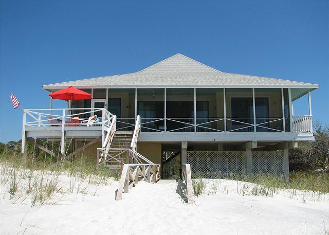 View of Heath House from the beach - Heath House - Cape San Blas - rentals