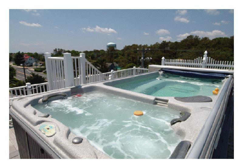 Panoramic view of rooftop pool and hot tub! - Memories - Rehoboth Beach - rentals