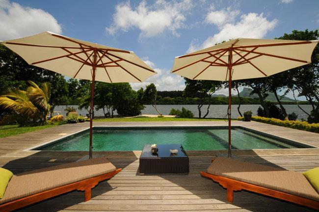 waterfront private pool of Villa Fauverelle - Villa Fauverelle - Mahebourg - rentals