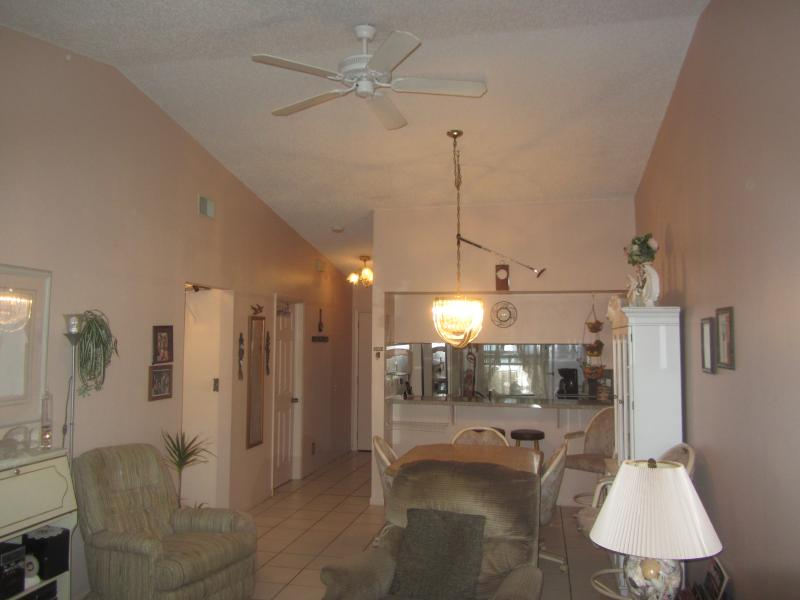 View from livingroom - (2024)  Cozy Villa in Sunny Clearwater, Florida - Clearwater - rentals