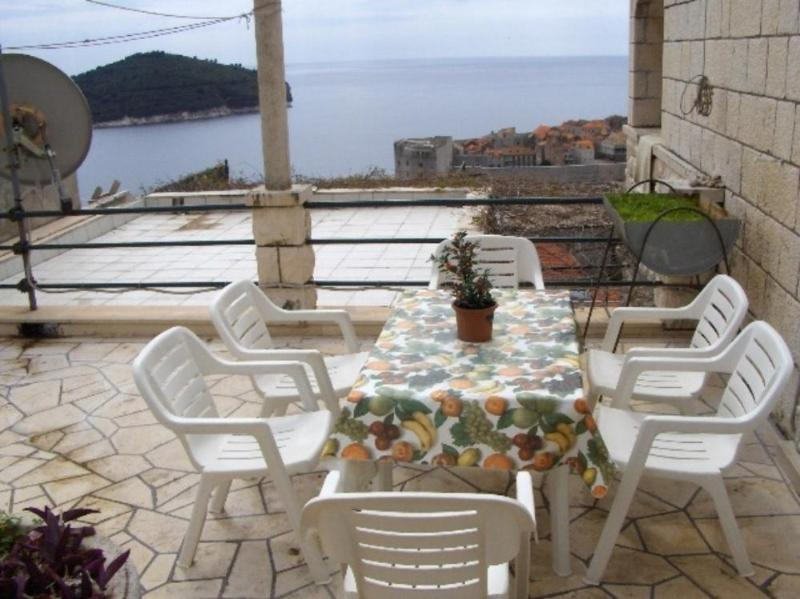 Sea View from Terrace - Studio Apartment - House with garden - Dubrovnik - rentals