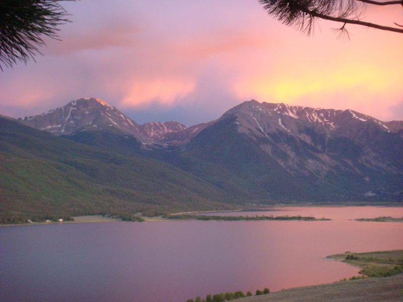 Evening views from the cabin. - A Little TLC - Twin Lakes Cabin - Twin Lakes - rentals