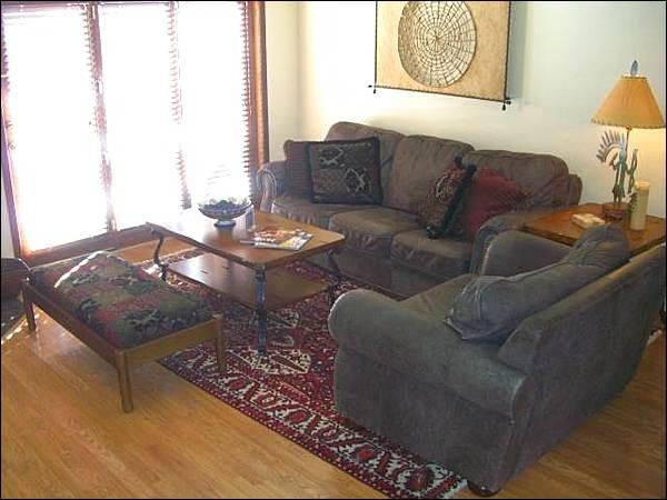 Living Room Opens to a Private Balcony - Beautiful Furnishings & Decor - Great Base Area Lodging (1277) - Crested Butte - rentals