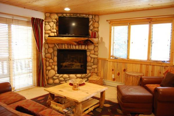 Living Room Boasts a Gas Fireplace, Flat-Screen TV, and Sofa Sleeper - Beautiful, Brand New Property - Easy Access to the Free Shuttle (24967) - Park City - rentals