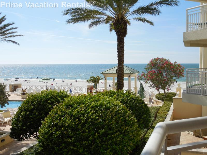 Clearwater Beach view from the private balcony - Mandalay Beach Club 405 | JUNE available! Call us! - Clearwater - rentals