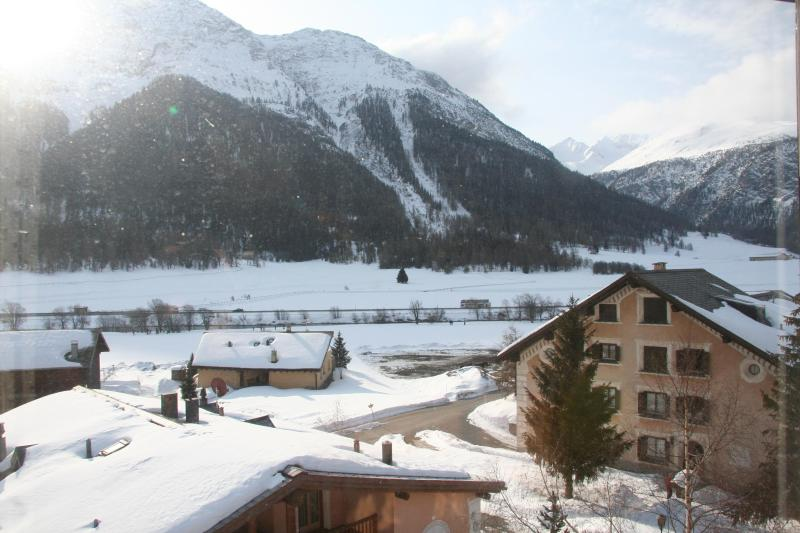 View from Living Room - Cosy Apt. with open fireplace close to Sankt Morit - Madulain - rentals