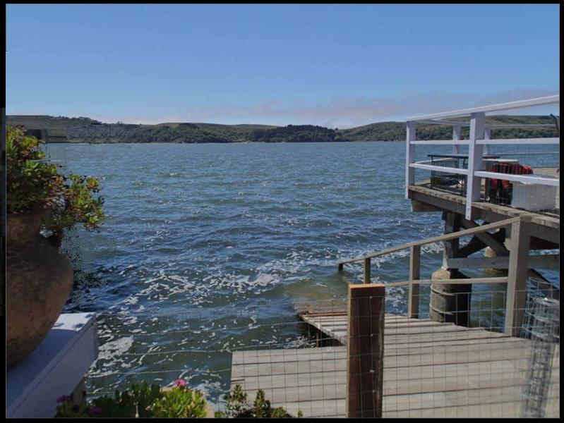 View from the cottage, deck and hot tub - Cozy Cottage Tomales Bay at Pt Reyes National Park - Marshall - rentals