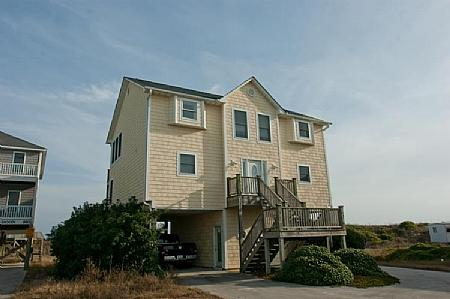 Art's Place streetside exterior - Art's Place, 808 N Topsail Dr.  Book Now and Save $500!! - Surf City - rentals