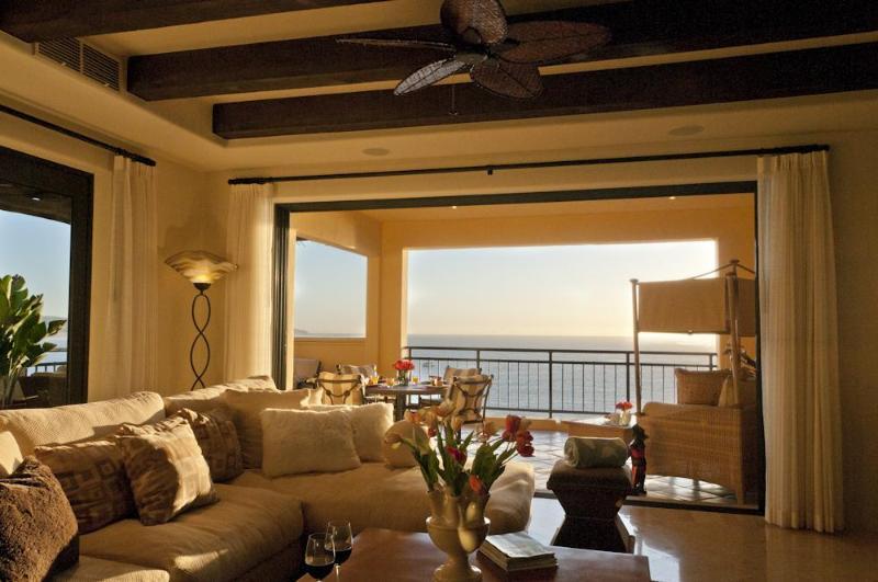 Living room daytime view - Hacienda 2 Bedroom Luxurious Ocean View Condo - Cabo San Lucas - rentals