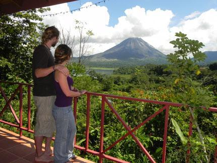 Guests Enjoying a Volcano View - HUMMINGBIRD NEST B&B - El Castillo - rentals