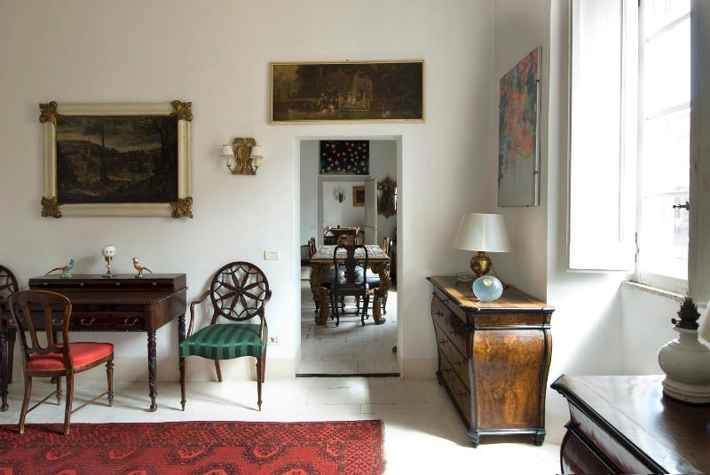 Overlooking Rome's Colosseum, in the Monti Area of Rome, a Splendid Art-filled Apartment, 2 Bedrooms - Image 1 - Rome - rentals