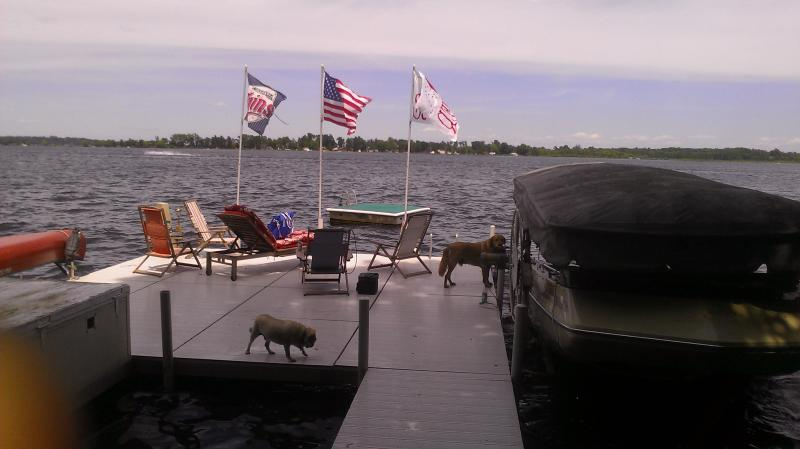 The  dock for fishing and swimming - Lake Living at it's Best -Seaside North. - East Gull Lake - rentals