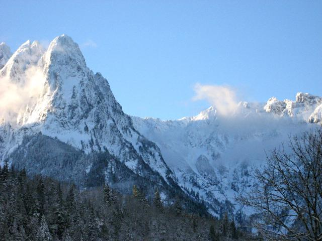 Mt. Index, the mountain the town was named after.  It is your view from our B&B - A Stone's Throw B&B - Index - rentals