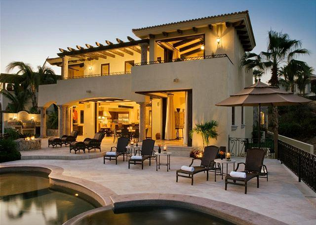 Pool Terrace - Casa Miramar Luxury Residence with Ocean Views, Pool/Jacuzzi in Cabo del Sol - Cabo San Lucas - rentals