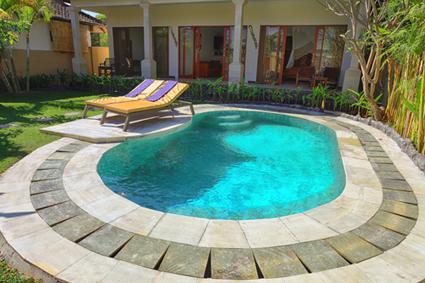 swimming pool - Bambu Villa Sanur -short walk to quiet Sanur beach - Sanur - rentals