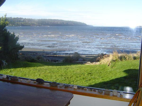 Gaze at the water from dining room table - Waterfront Beachhouse with Great View! - Freeland - rentals