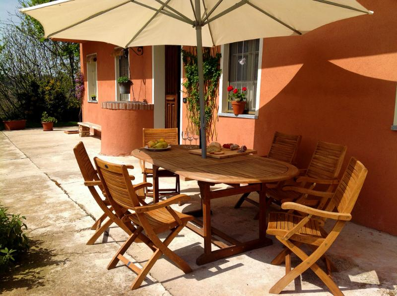La Terrazza I : Front of the house - LA TERRAZZA I - FARMSTEAD IN ROERO ( Pool at Exclusive Country Club) - Cisterna d'Asti - rentals