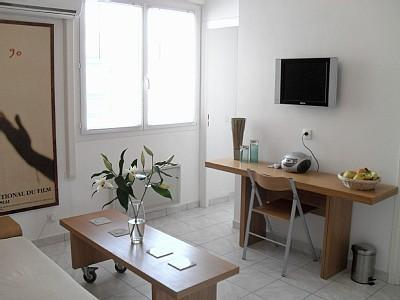 Bright and Airy Living Room - Sunny 1 Bedroom Apartment in Central Cannes - Cannes - rentals