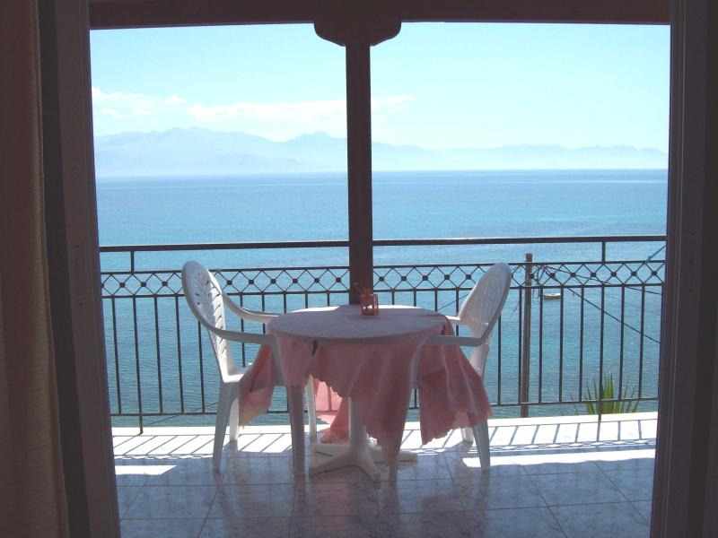 View from balcony - Sea Front Apartment In Chrani, Peloponnese,Greece - Chrani - rentals