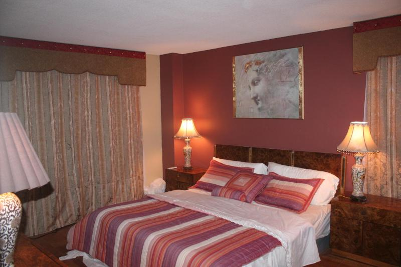 Master Bedroom with a beautiful King bed - Beautiful/Charming Condo - Adelphi - rentals