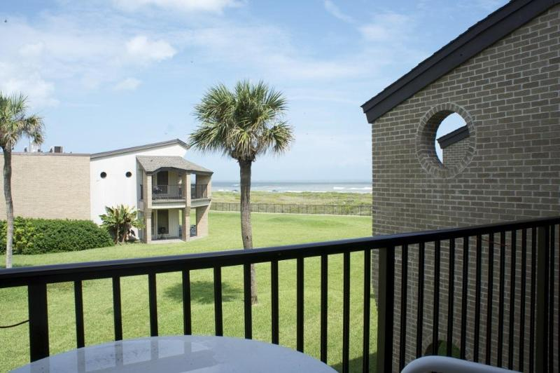 The View from the Balcony  Picture yourself sitting here with a cool drink relaxing away the day. - On the Beach at Sunchase Beachfront! - South Padre Island - rentals