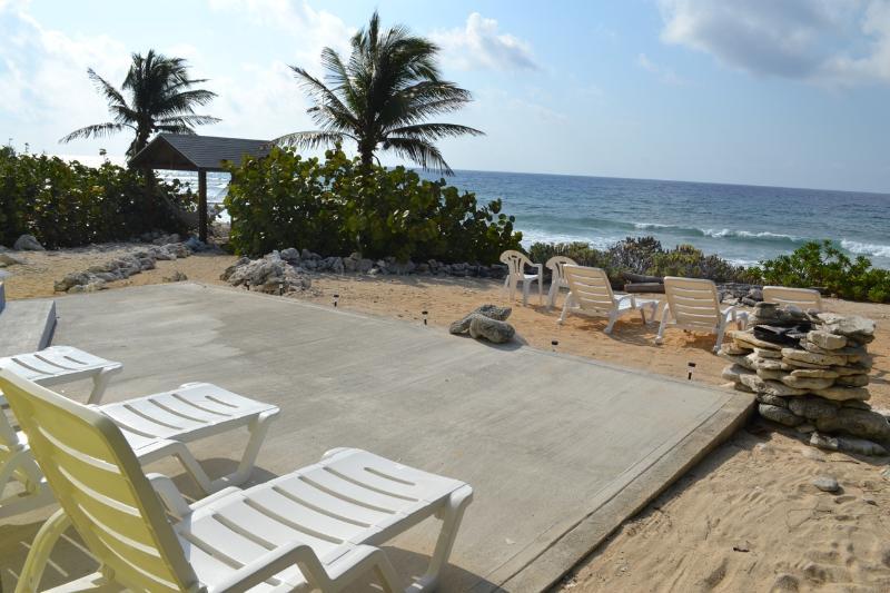 Ocean front patio - Three Palms Beach Front Home - Cayman Brac - rentals