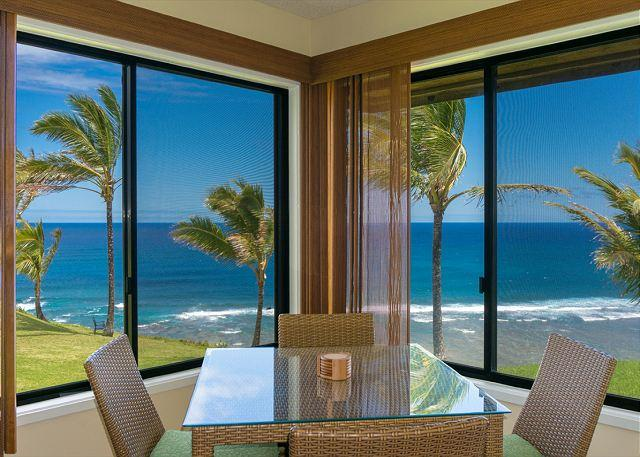 dining area - Sealodge G4: Spectacular oceanfront views from upgraded romantic hideaway - Princeville - rentals