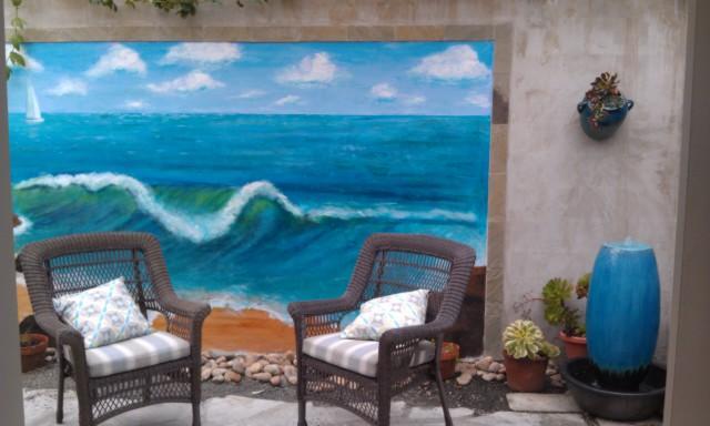 garden patio - The Sea Star - Cambria Home stay  B&B - Cambria - rentals