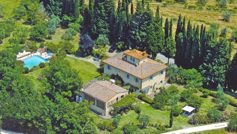 Aireal view of La Fonte - Apartment with spectacular views: Girasole - San Gimignano - rentals