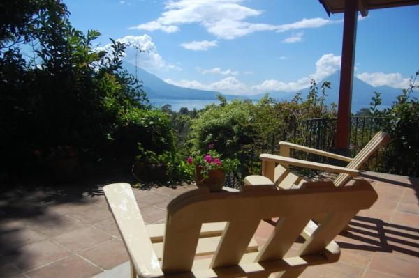 View from Bungalow Deck - Casa Juana plus Guest Bungalow. - Panajachel - rentals