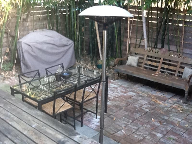 Gas grill, large table, hammock--your prvt patio - West Hollywood Bungalow Experience~BEST Location! - West Hollywood - rentals