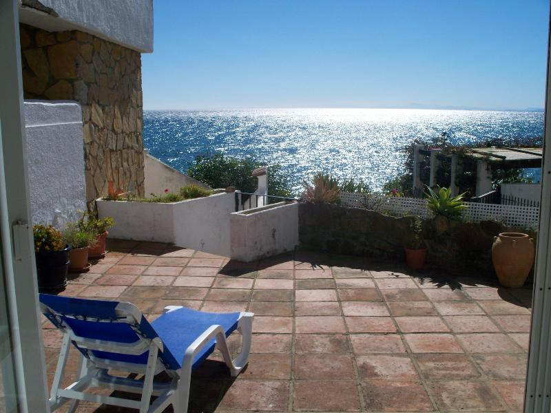 View from terrace, walk down to the sea - Beach front architecturally designed holiday home - Estepona - rentals