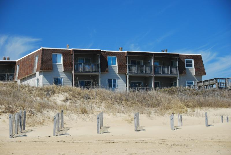 Exterior Photo Taken From the Beach - Oceanfront Condo in Regency Newly Renovated MP 9.5 - Kill Devil Hills - rentals