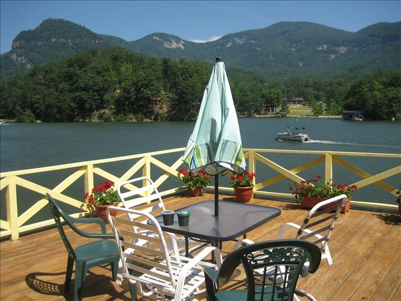View from the Deck - Lakefront  Most Spectacular views lake,Mountains - Lake Lure - rentals