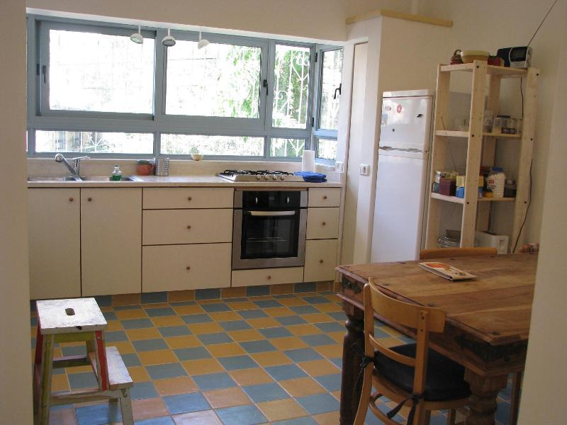 the heart of our place: the kitchen - Hana's Place in the German Colony - Jerusalem - rentals