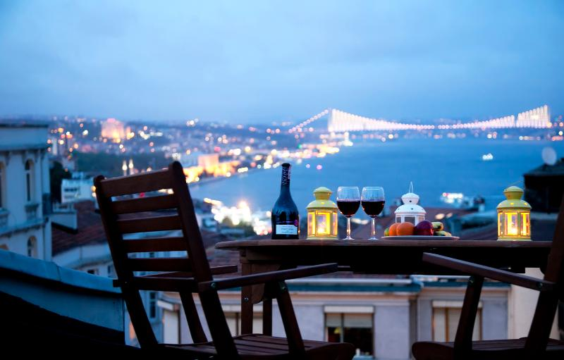 terrace - TAKSIM ULTRA VIP APARTMENT - KING SUITE SEA VIEW - Istanbul - rentals