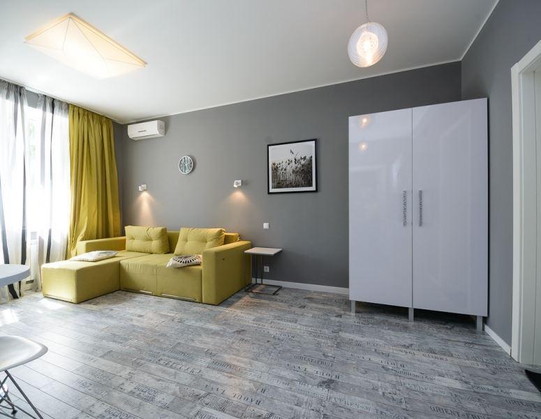 Living Room - Euro Designed One Bedroom Apartment in Kiev Center - Kiev - rentals