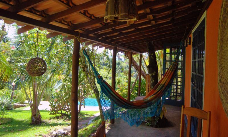on the veranda of the suites in the park to the pool - suite house with Pool & Park Porto Seguro Brazil - Porto Seguro - rentals