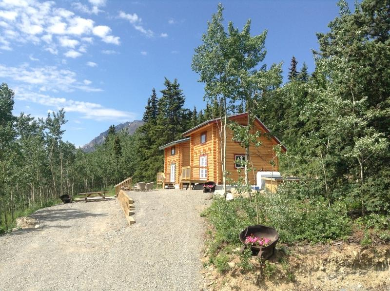 Looking west towards Bennett Lake & Carcross - Cabins Over Crag Lake - Carcross - rentals