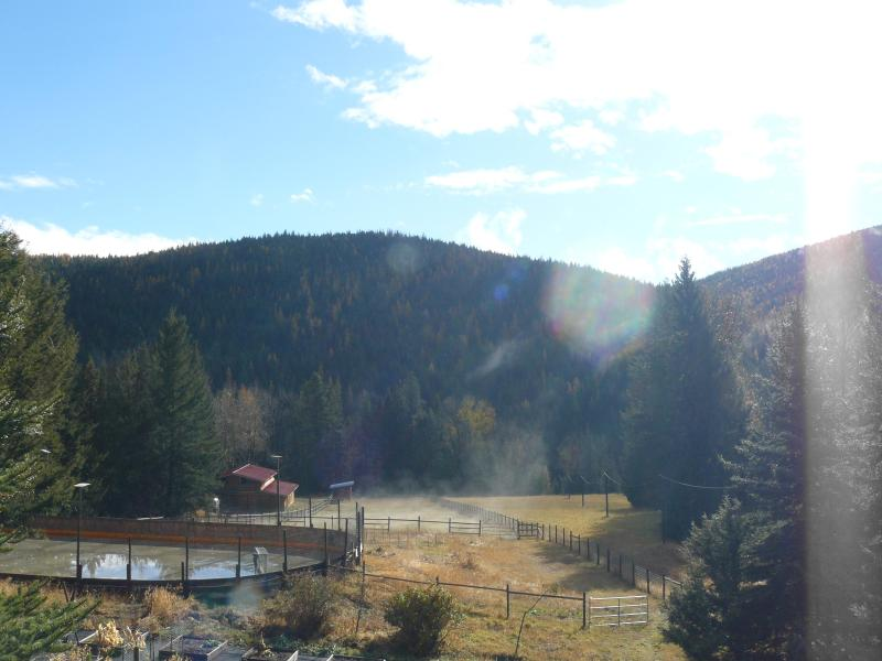 View from the deck - Hitching Post Log Cabin - Kelowna - rentals