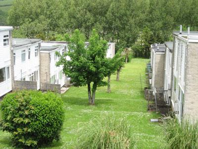 View of holiday village from front window of Puffin - Puffin, 61 Freshwater Bay Holiday Village - Freshwater East - rentals