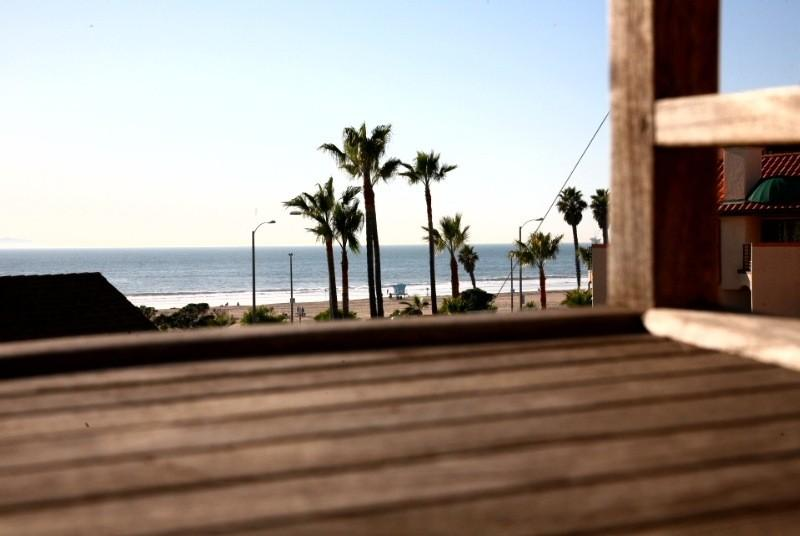 Beach view from upper balcony - Pacific Breeze walk to main st and the pier! - Huntington Beach - rentals