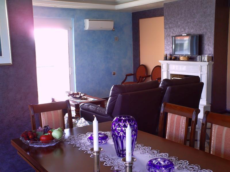 living room - Rafina luxury apartment near beach - Rafina - rentals