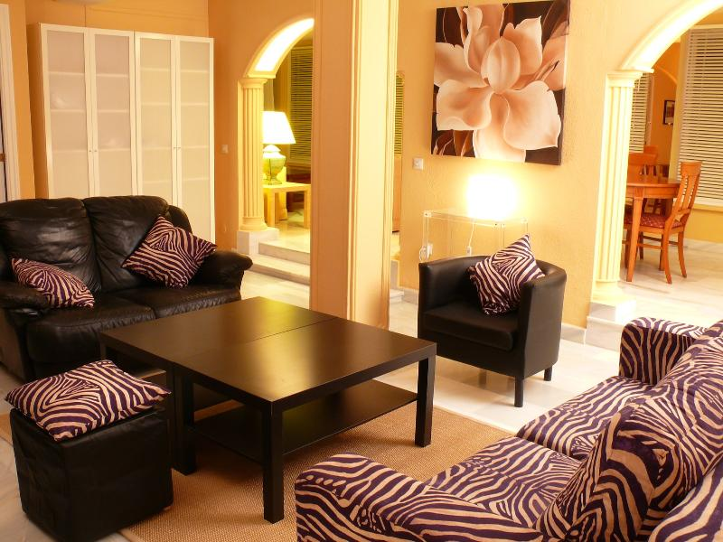 Living  room - Beautiful penthouse Marbella city centre - Marbella - rentals
