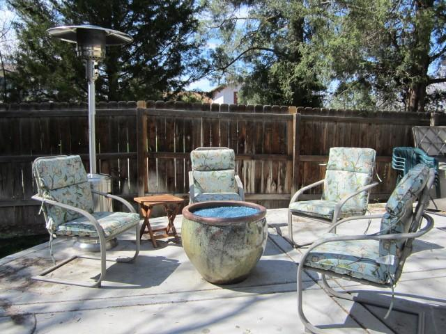 Easily seat a dozen or more friends and family around the backyard gas fire pit. - Beautifully Remodeled South Denver Executive Home - Denver - rentals