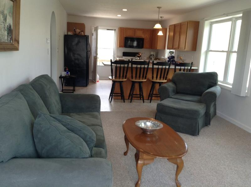 Living room and view of kitchen - Two Bedroom Cottage  Walk to the Beach - York - rentals