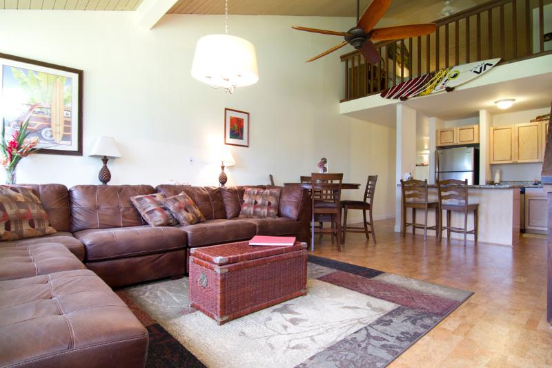 Living room - Turtle Bay Oahu Loft Condo (FULL KITCHEN) - Kahuku - rentals